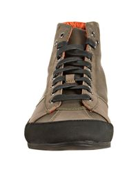 Kenneth Cole Reaction | Green Olive Leather and Nylon Speed Ball Sneakers for Men | Lyst