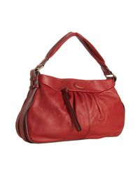 Lancel | Red Leather Angelina Shoulder Bag | Lyst