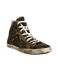 Leather Crown | Military Green Camouflage Canvas Hi-top Sneakers for Men | Lyst