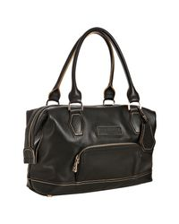 Longchamp | Black Leather Légende Small Satchel | Lyst