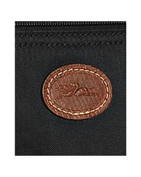 Longchamp - Black Nylon Le Pliage Top Handle Clutch - Lyst