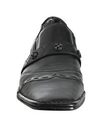 Mark Nason - Lounge Black Leather Life Timer Slip-ons for Men - Lyst