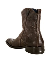 Mark Nason - Rock Lives Dark Brown Stitched Leather Tumbled Leather Boots for Men - Lyst
