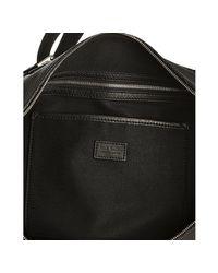 Paul Smith | Black Pebbled Leather Signature Stripe Messenger Bag for Men | Lyst