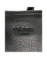Prada | Black Deerskin Medium Travel Bag for Men | Lyst