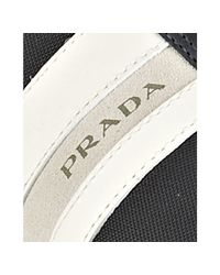 Prada - Blue Sport Navy Nylon Suede and Leather Trim Sneakers for Men - Lyst