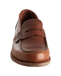 Prada - Brown Tobacco Leather Split Toe Penny Loafers for Men - Lyst
