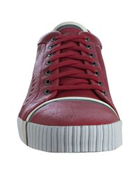PUMA | Amq For Red Leather Scarred Street Low Sneakers for Men | Lyst