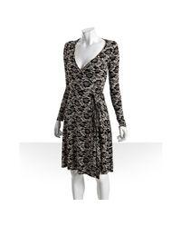 Rachel Pally | Black Lace Print Jersey Wrap Dress | Lyst