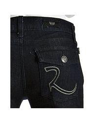 Rock & Republic - Bleak Blue Wash Kurt Flap Pocket Bootcut Jeans - Lyst