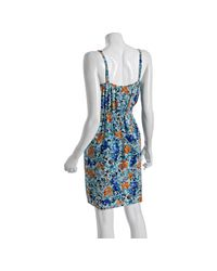 Shoshanna | Blue Silk Antigua Cami Dress | Lyst