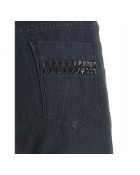 Sl8 - Blue Dark Wash Studded Pocket Stretch Skinny Leg Jeans - Lyst