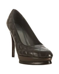 Stuart Weitzman | Black Quilted Leather Stitchup Platform Pumps | Lyst