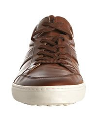 Tod's - Brown Leather Sport Cassetta Sneakers for Men - Lyst
