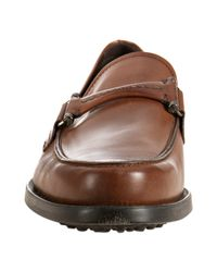 Tod's - Brown Cocoa Leather Selleria Boston Loafers for Men - Lyst