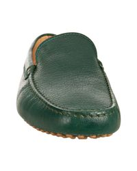 Tod's | Dark Green Leather New Gommini Loafers for Men | Lyst