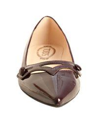 Tod's | Purple Plum Patent Leather Audrey Cutout Flats | Lyst