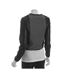 Torn | Black Leather Jackson Studded Zip Jacket | Lyst
