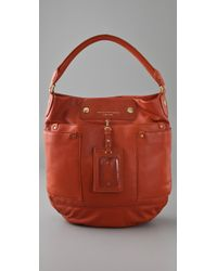 Marc By Marc Jacobs | Red Preppy Leather Hillier Hobo | Lyst