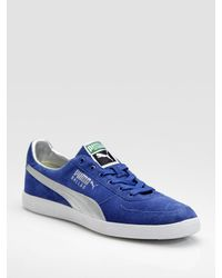 PUMA | Blue Dallas Suede Sneakers for Men | Lyst