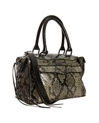 Rebecca Minkoff | Green Python Embossed Mab Mini Satchel | Lyst
