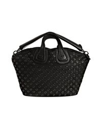 Givenchy | Black Grommet Nylon Nightingale Medium Top Handle Bag | Lyst