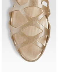 Melissa - Metallic Violatta Rubber Sandals - Lyst