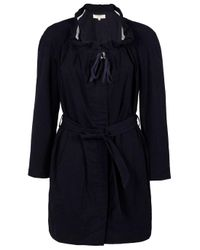 Vanessa Bruno Athé | Black Ruffle Neck Trench Coat | Lyst