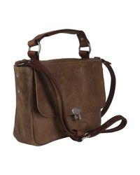 Ally Capellino | Brown Tan Lorraine Cross Body Satchel Bag | Lyst