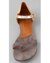 Chie Mihara | Brown Joven Flat Thong Sandals | Lyst