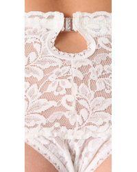 Hanky Panky - White Signature Lace Retro Garter Thong - Lyst
