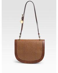 Stella McCartney | Brown Braided Faux Vachetta Shoulder Bag | Lyst