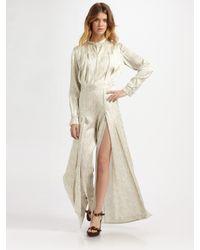 Stella McCartney | White Silk Citrus-print Rowan Jumpsuit | Lyst