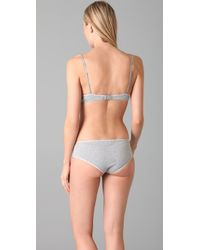 Calvin Klein - Gray Ck One Cotton Convertible T-shirt Bra - Lyst