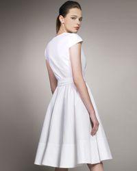 Chloé | White Cotton Cap Sleeve Wrap Dress | Lyst