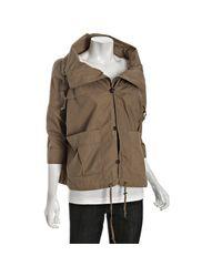 DKNY | Green Khaki Cotton Kat Oversized Anorak Jacket | Lyst