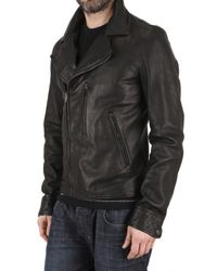 Dolce & Gabbana - Black Leather Motorcycle Jacket for Men - Lyst