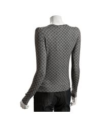 Gucci - Gray Grey Gg Printed Cashmere Scoop Neck Sweater - Lyst