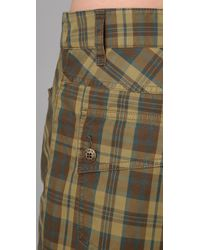 L.A.M.B. - Green Plaid Shorts - Lyst