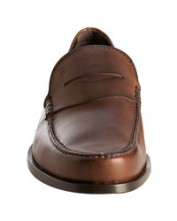 Tod's - Brown Cocoa Leather Boston Penny Loafers for Men - Lyst