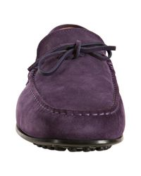 Tod's - Purple Suede City Gommino Moccasins for Men - Lyst