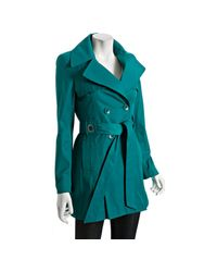 Via Spiga - Blue Turquoise Double-breasted Scarpa Belted Trench Coat - Lyst
