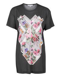 Jonathan Saunders | Black Floral Mosaic Boyfriend T-shirt | Lyst