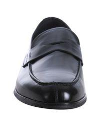 Prada - Black Leather Split Toe Penny Loafers for Men - Lyst