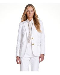 Tory Burch | White Aliza Jacket | Lyst