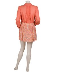 Vanessa Bruno Athé - Orange Peasant Blouse - Lyst