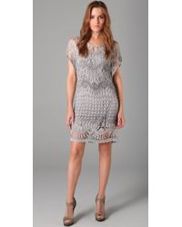 Georgie | Gray Darla Crochet Dress | Lyst
