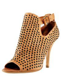 Givenchy | Natural Buckled Grommet Sandal | Lyst