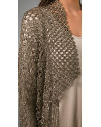 Rachel Roy - Metallic Crochet Cardigan - Lyst