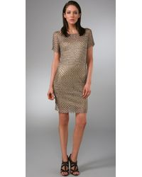 Rachel Roy | Metallic Crochet Dress | Lyst